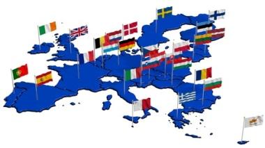 Europäische Union mit Landesflaggen 2